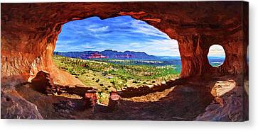 Sacred Ground - Shaman's Cave Canvas Print by ABeautifulSky Photography