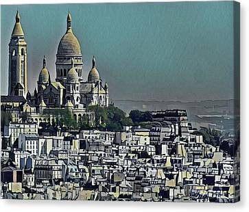 Sacred Heart Basilica Canvas Print by Russ Harris