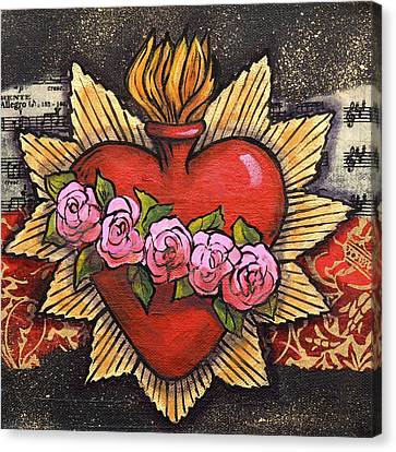 Sacred Heart No. 1 Canvas Print by Candy Mayer