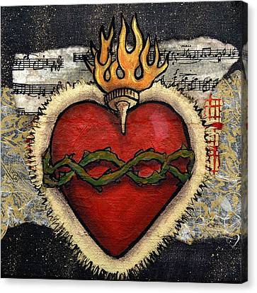 Sacred Heart No. 3 Canvas Print by Candy Mayer