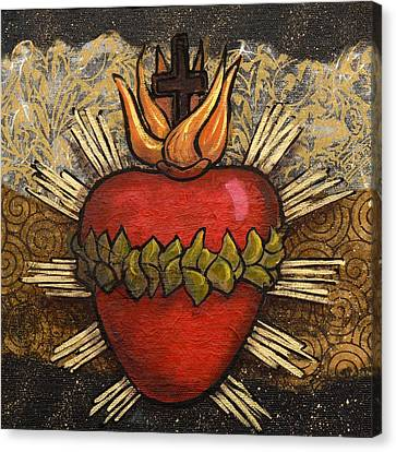 Sacred Heart No. 4 Canvas Print by Candy Mayer
