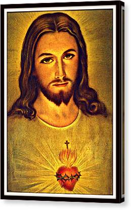 Sacred Heart Of Jesus Canvas Print by Aron Chervin