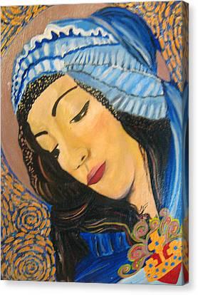 Sacred Heart Of Mary Canvas Print by Teresa Hay