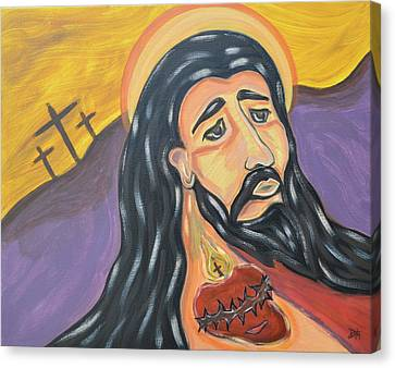 Sacred Heart Of Surrender Canvas Print by Danielle Tayabas