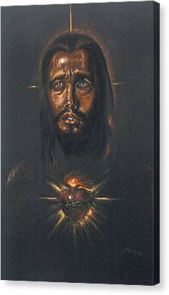 Sacred Heart Canvas Print by Tommy  Winn