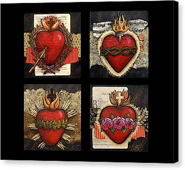 Sacred Hearts Canvas Print by Candy Mayer