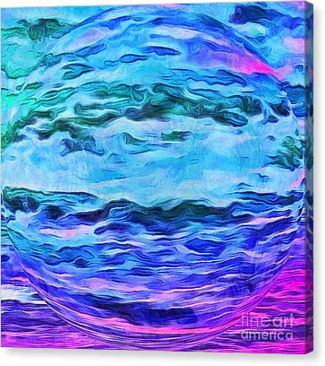 Sacred Planet Canvas Print by Krissy Katsimbras