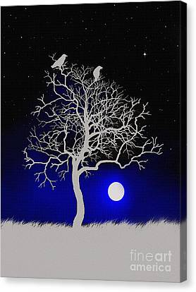 Sacred Raven Tree Canvas Print by Robert Foster