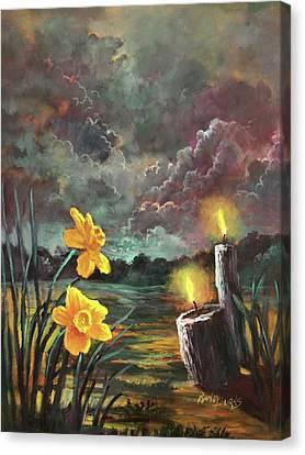 Sacred Silence Canvas Print by Randy Burns