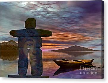 Sacred Stone  Canvas Print by Shadowlea Is