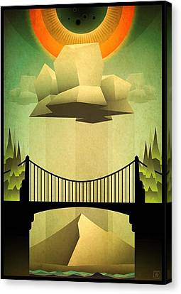 Canvas Print featuring the mixed media Sacred Sun Shower by Milton Thompson