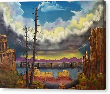 Sacred View Canvas Print by Patrick Trotter