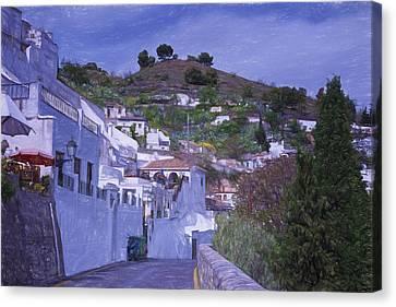 Sacromonte Neighborhood Granada Spain Canvas Print by Joan Carroll