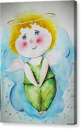 Sad Angel Canvas Print by Paint Around