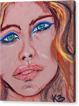 Sad Blue Eyes-framed Canvas Print