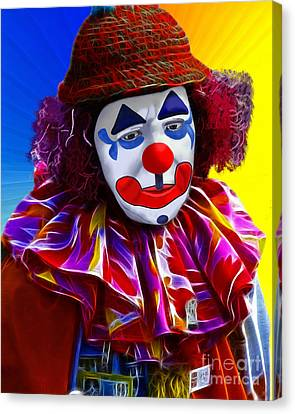 Sad Clown Canvas Print by Methune Hively