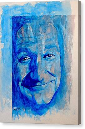 Sad Clown - Robin Williams Canvas Print by William Walts