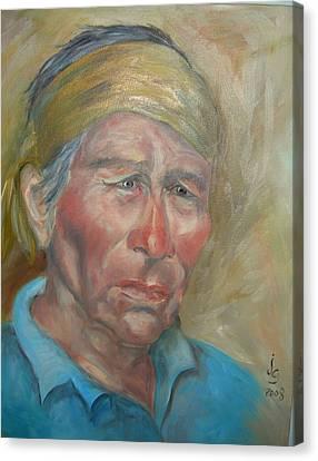 Sad Eyes Canvas Print by Judie Giglio