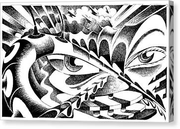 Musica Canvas Print - Sad Eyes Remember The Future by Ciro Pignalosa
