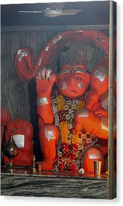 Sad Hanuman, Vrindavan Canvas Print