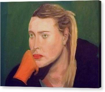 Chin On Hand Canvas Print - Sad Maria by Peter Gartner