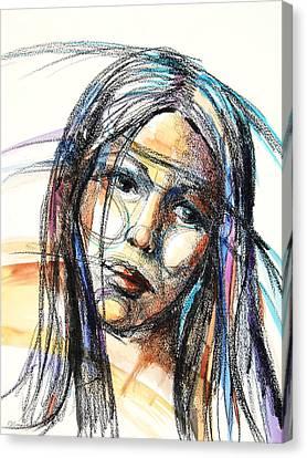Sad Canvas Print by Patricia Allingham Carlson