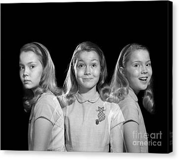 Sad To Happy, Multiple Exposure Image Canvas Print by Debrocke/ClassicStock