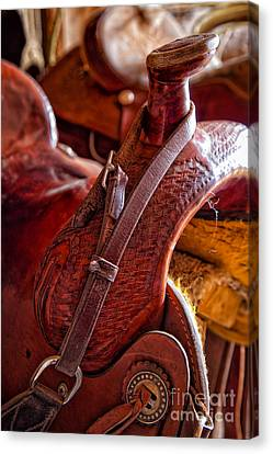 Saddle In Tack Room Canvas Print
