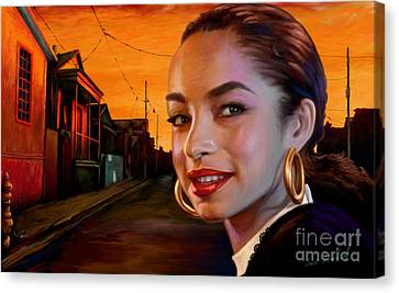 Canvas Print featuring the painting Sade by Sam Shacked