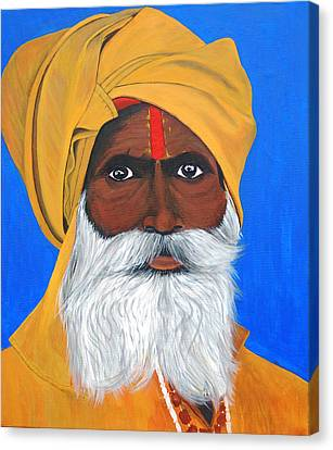 Sadhoo Canvas Print by Sreeji Sreedharan