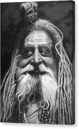Sadhu  Canvas Print by Enzie Shahmiri
