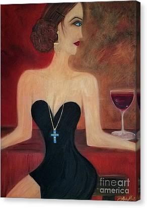 Sadie's Last Syrah Canvas Print by Linda Marie