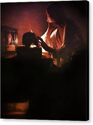 Sadness Of A Lady Canvas Print