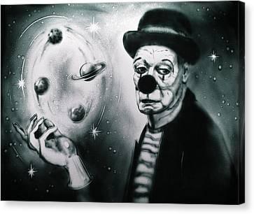 Sadness Of Creator Canvas Print by Elena Vedernikova