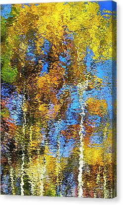 Safari Mosaic Abstract Art Canvas Print by Christina Rollo