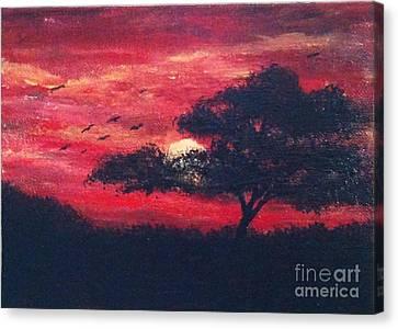 Safari Sunset Canvas Print