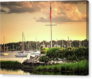 Canvas Print featuring the photograph Safe Harbor Bristol Ri by Tom Prendergast