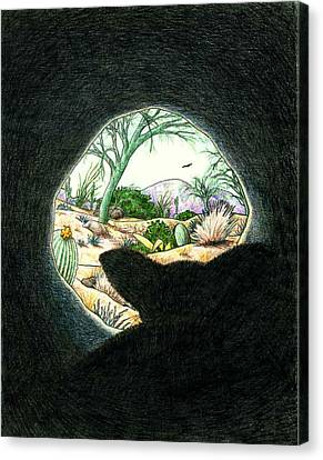 Safe In The Den Canvas Print by Theresa Higby