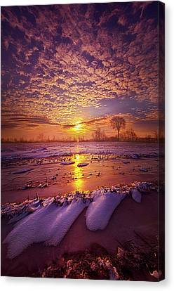 Canvas Print featuring the photograph Safely Secluded In A Far Away Land by Phil Koch