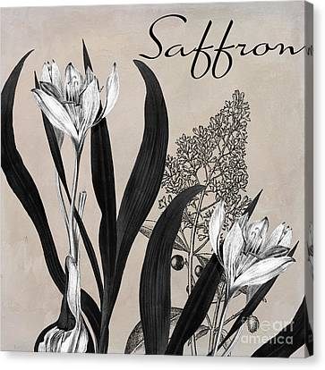 Saffron Flowering Herb Canvas Print by Mindy Sommers