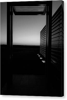 Canvas Print featuring the photograph Sag Harbor Sunset 2 In Black And White by Rob Hans