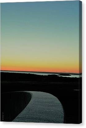 Canvas Print featuring the photograph Sag Harbor Sunset 3 In Black And White by Rob Hans