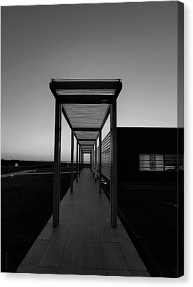 Canvas Print featuring the photograph Sag Harbor Sunset In Black And White by Rob Hans