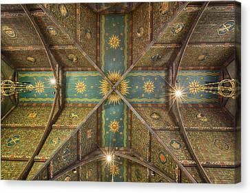 Sage Chapel Ceiling #1 - Cornell University Canvas Print by Stephen Stookey