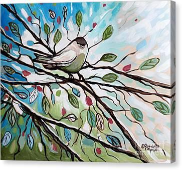 Sage Glimmering Songbird  Canvas Print by Elizabeth Robinette Tyndall