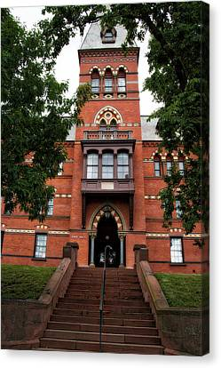 Sage Hall Cornell University Ithaca New York 03 Canvas Print by Thomas Woolworth