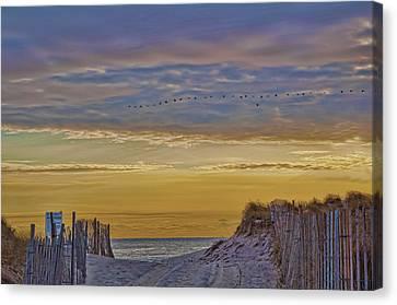 Sagg Main Beach In Winter Canvas Print