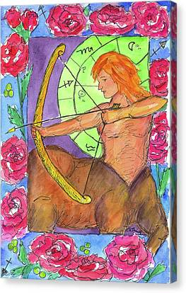Canvas Print featuring the painting Sagittarius by Cathie Richardson