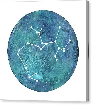 Zodiac Signs Canvas Print - Sagittarius  by Stephie Jones