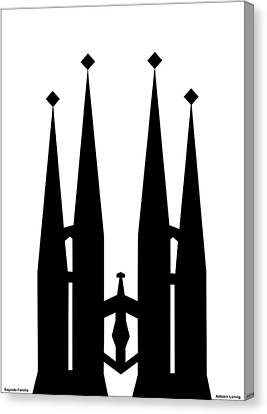 Sagrada Familia Canvas Print by Asbjorn Lonvig